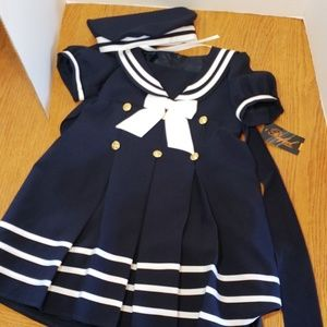 Nwt nautical sailor 2 PC dress and hat
